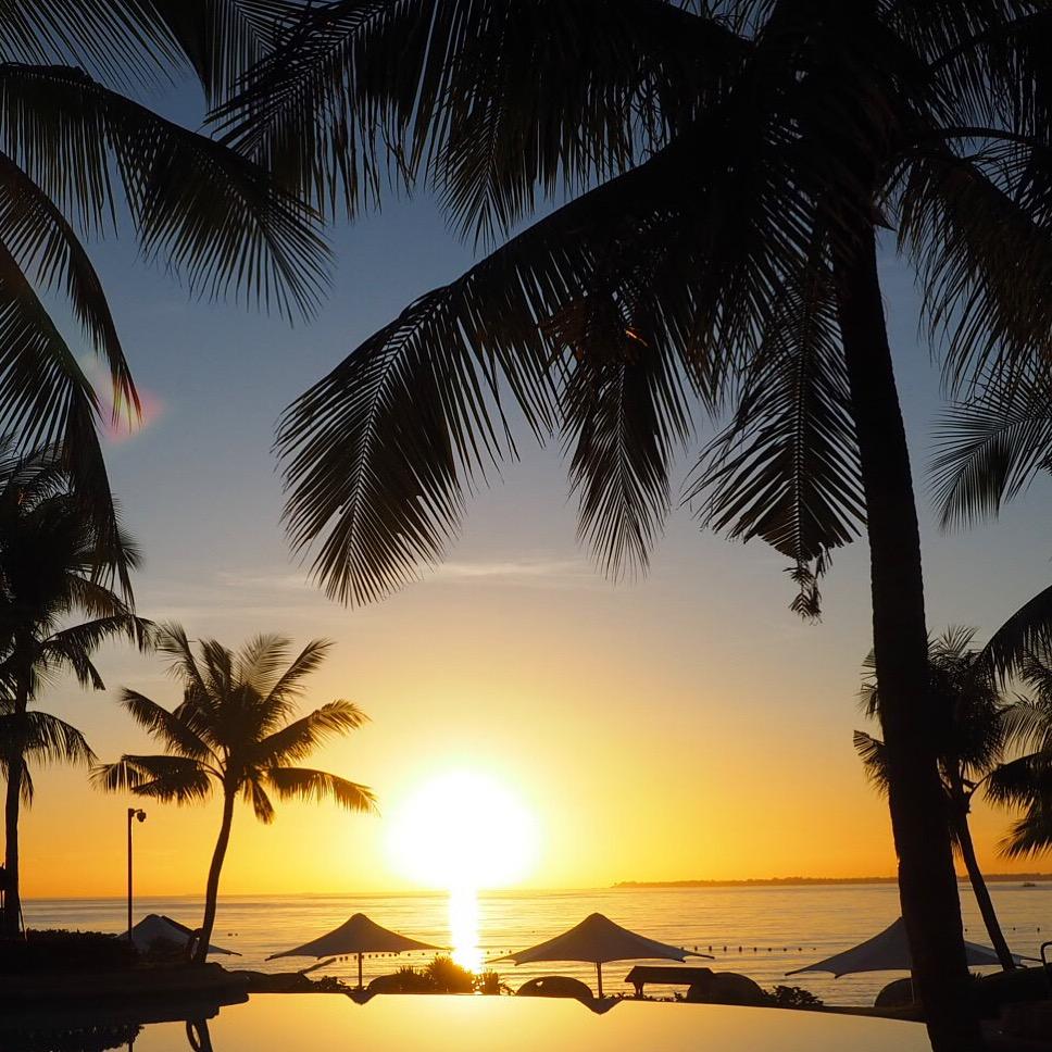 Such beautiful sunrises at the Shangri-La Mactan Resort & Spa