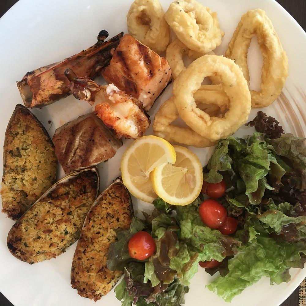 The divine seafood platter at Aqua