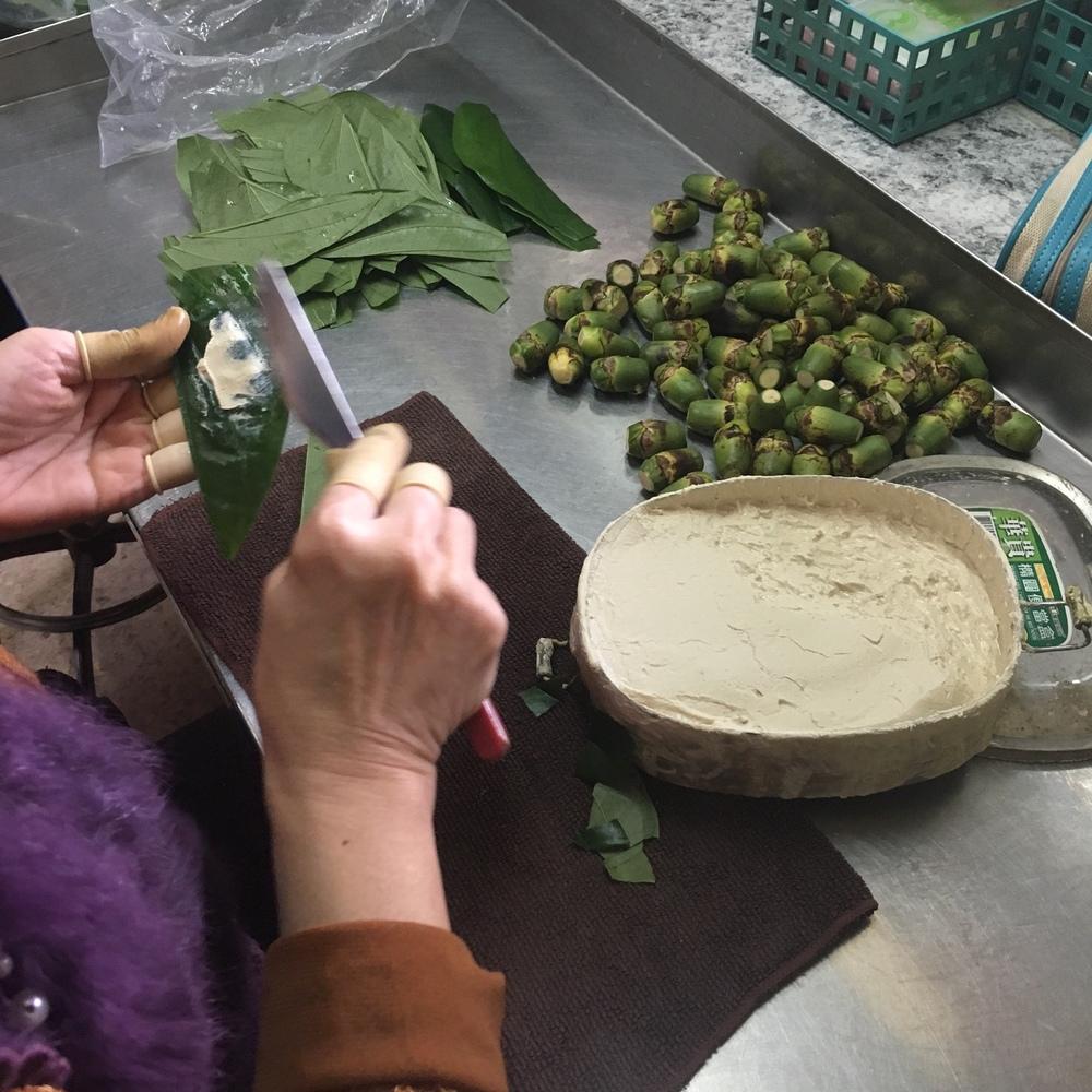Preparing the betel nut