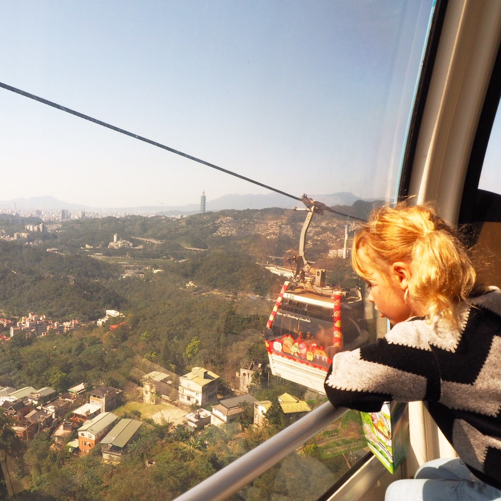 Easy, easy Taipei - riding the gondola from Taipei Zoo.