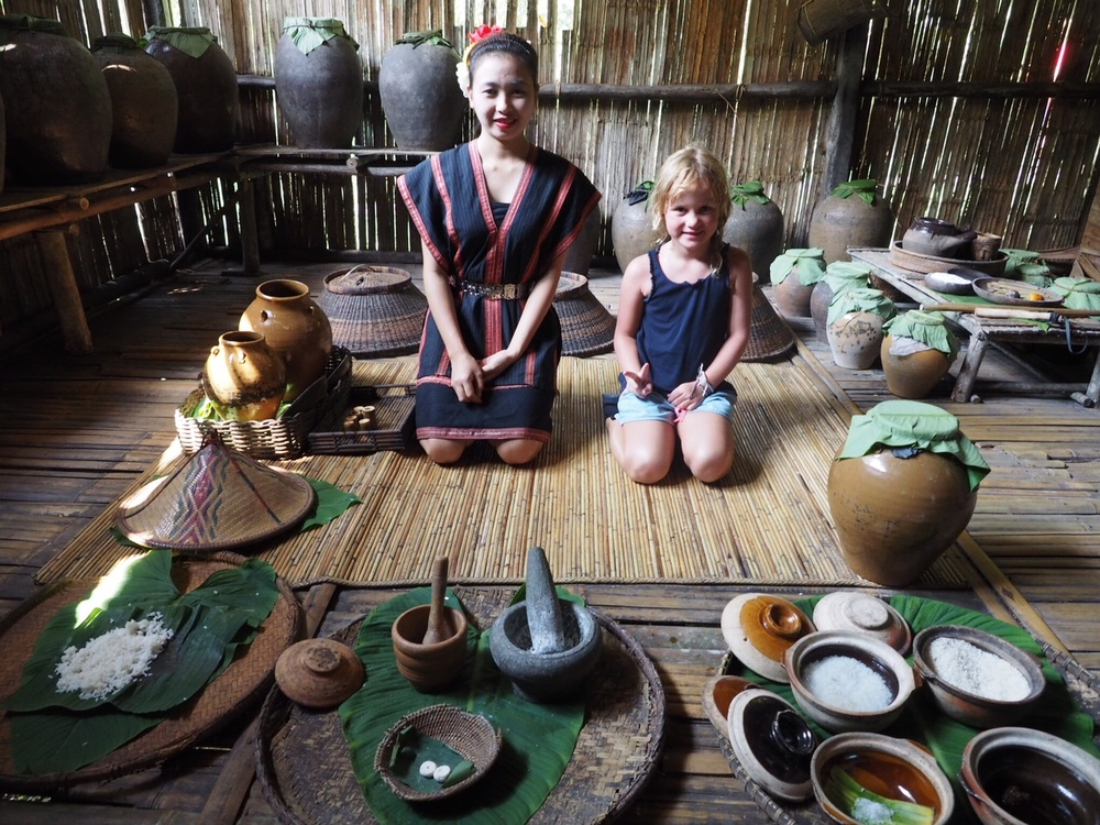 The Dusun tribe's home and rice wine preparation