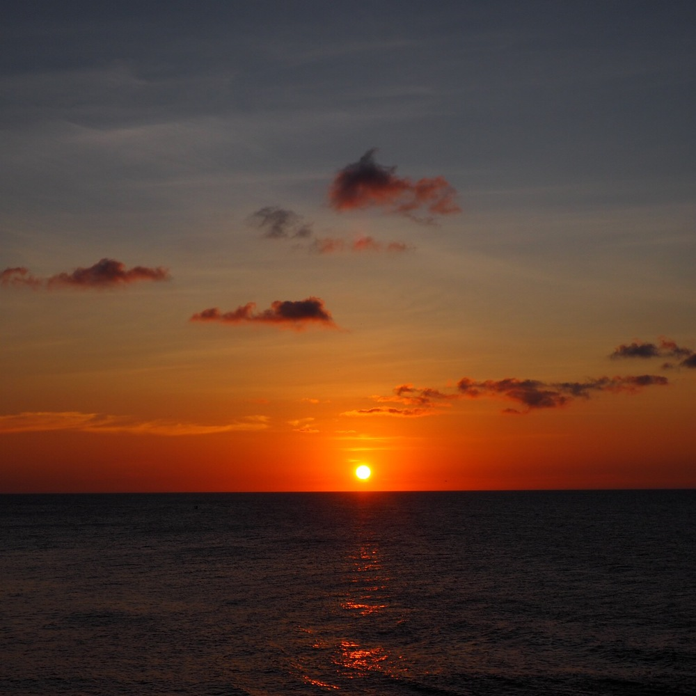 Amazing Tip of Borneo sunset