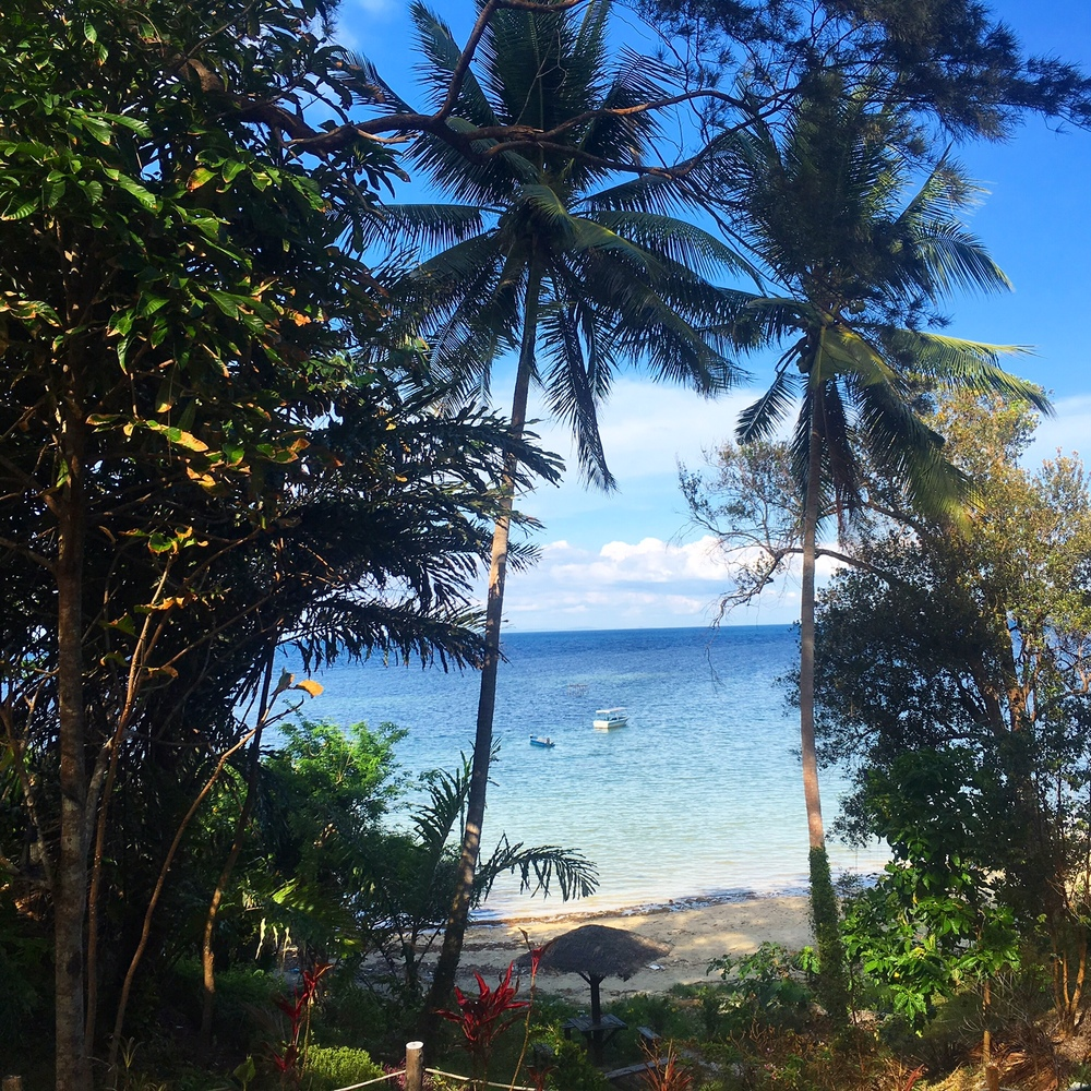 Such a gorg view of the Sulu Sea from our room at the Merrimas Villa