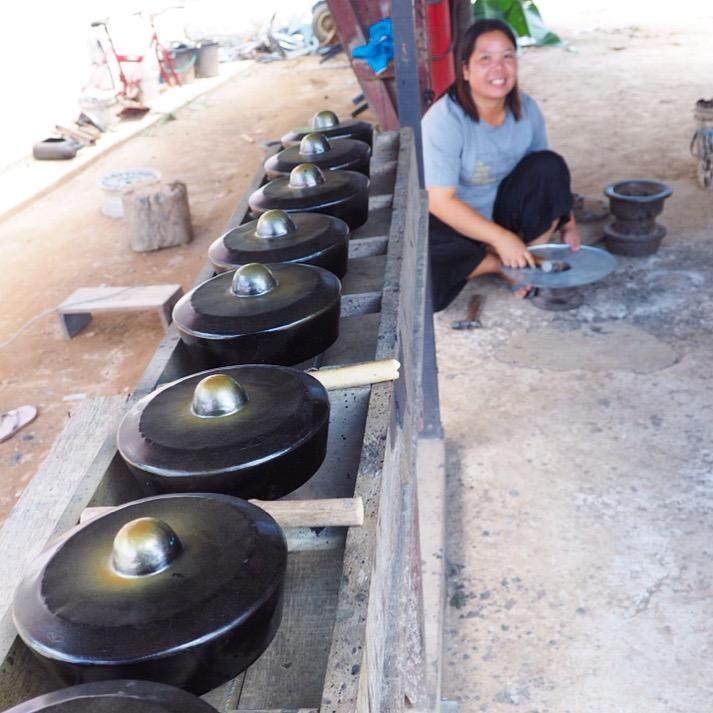 Salina - a Sabahan gong maker for 12 years