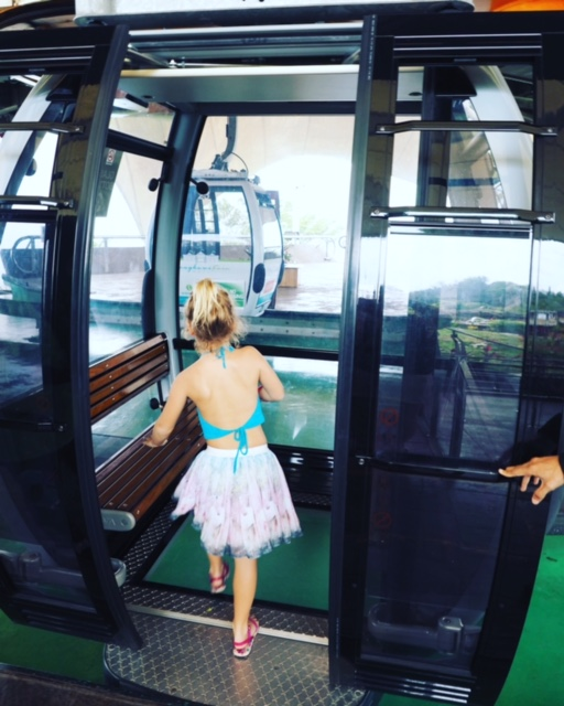 Boarding the glass bottom SkyCab