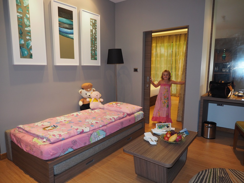 Emmie's room and special bed at the Novotel Phuket Karon Beach Resort and Spa