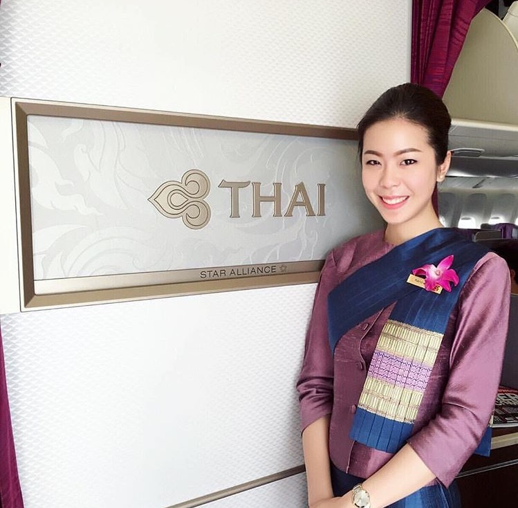 Friendly and kind Thai Airways crew. PHOTO CREDIT: Thai Airways