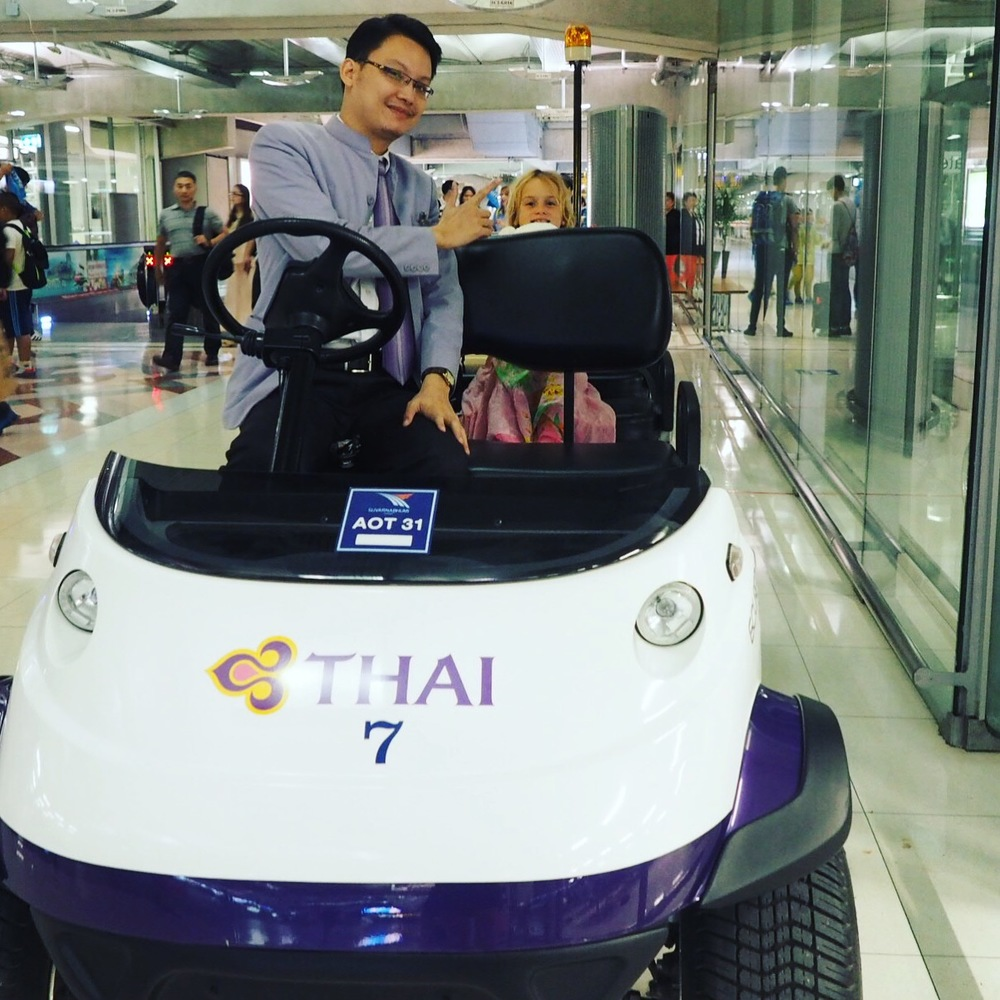 Whooo hooo buggy ride! Thank you Thai Airways!