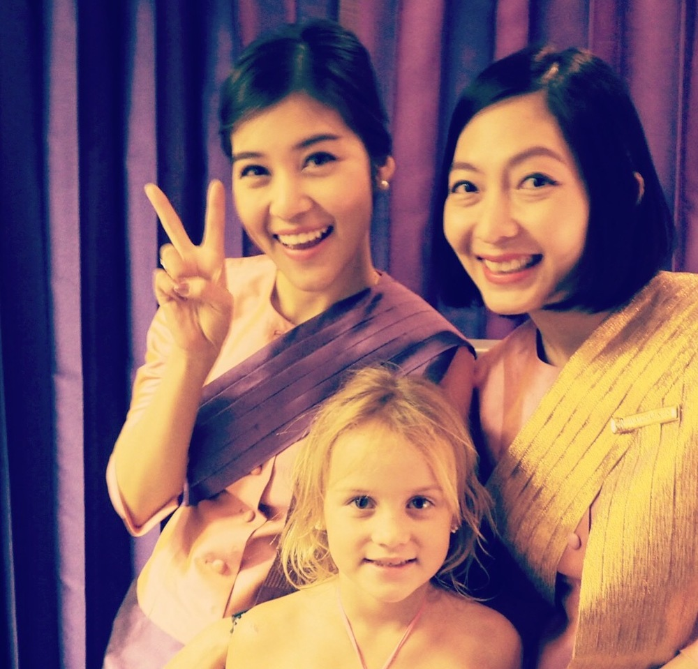 Lovely Thai Airways crew.