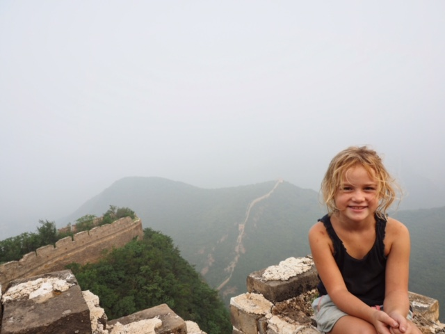 Hooray! We made it to the top of the Great Wall of China.