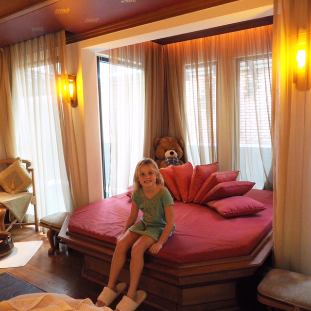 Children's bed at Chi the Spa - perfect for holidaying families
