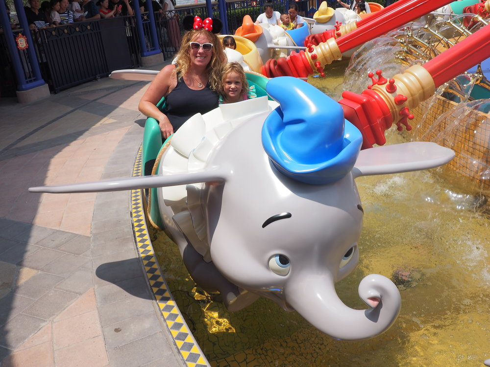 One of our ALL TIME FAVES! WE love Dumbo at Disneyland.