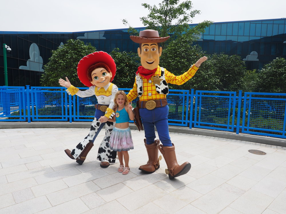 So much Woody and Jessie love at the Toy Story Hotel!