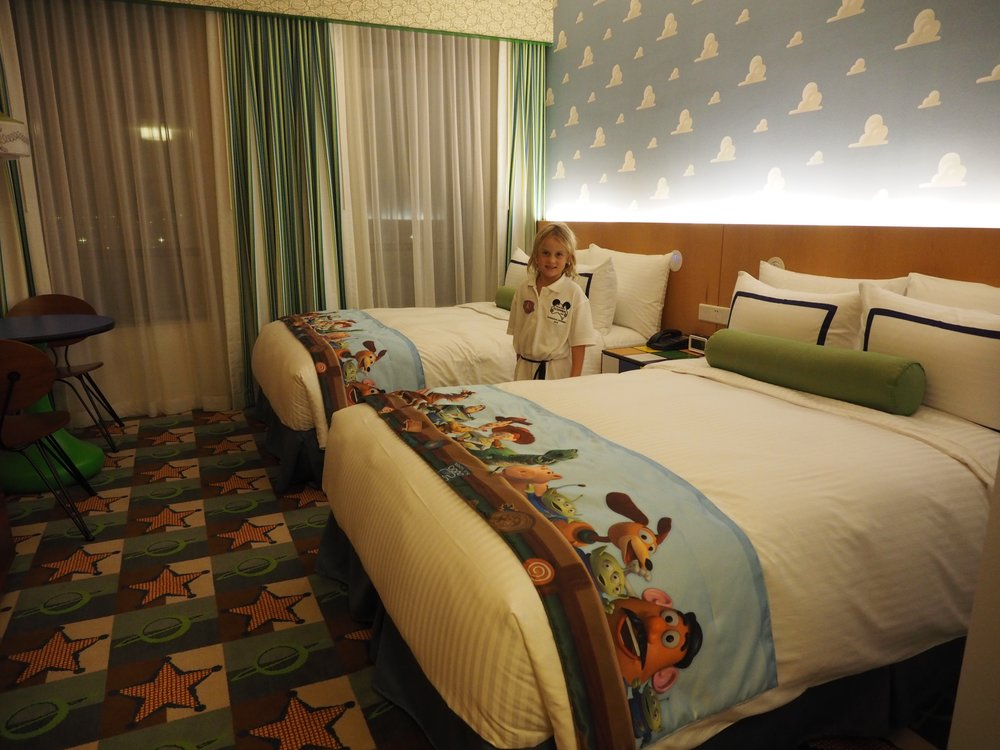 We loved our room at the Toy Story Hotel, Disneyland Shanghai