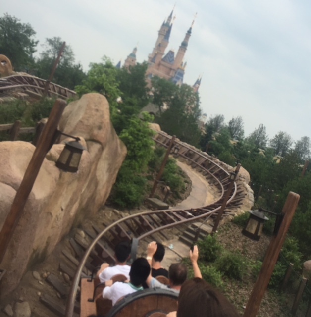 The view from the Seven Dwarf's Mine Train