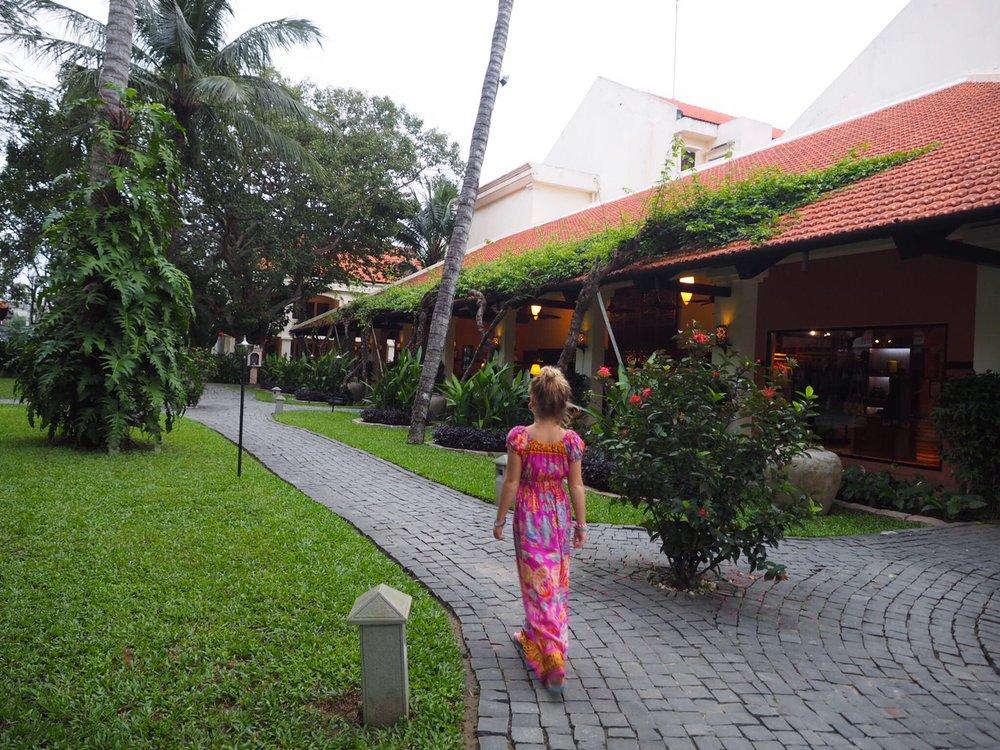 The beautiful grounds at the Anantara Hoi An Resort