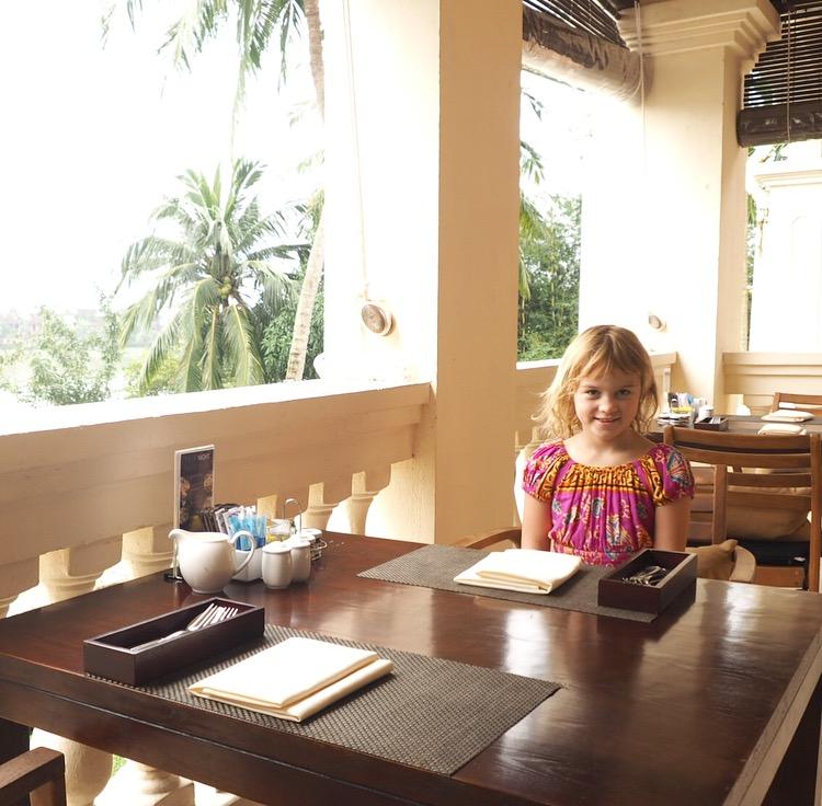 Breakfast views at the Anantara Hoi An Resort