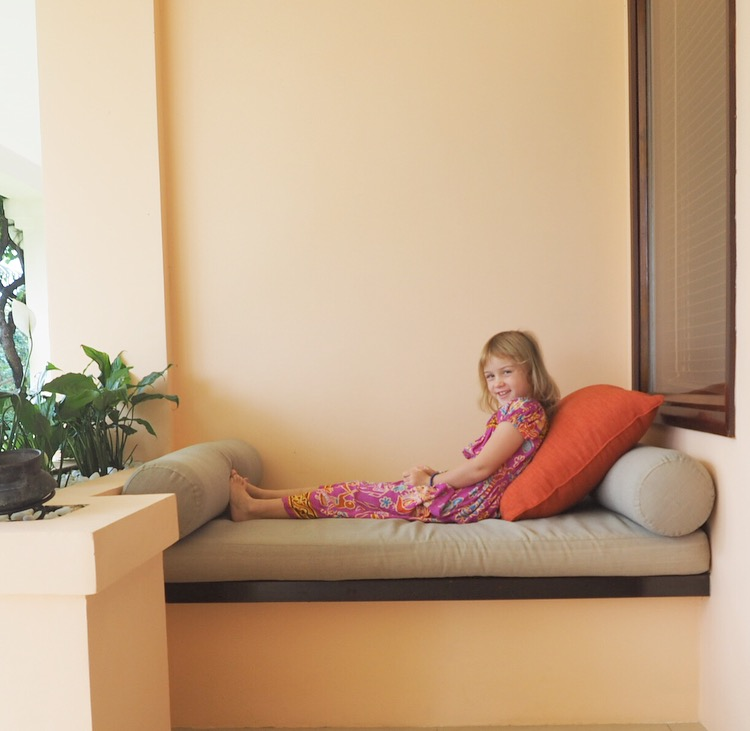Lazing on the daybeds
