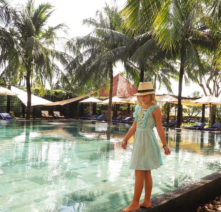 The beautiful swimming pool at the Anantara Hoi An Resort