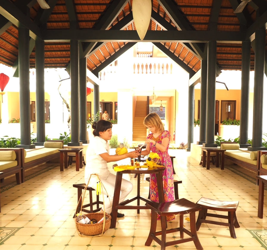 Making beautiful traditional lanterns at the Anantara Hoi An Resort