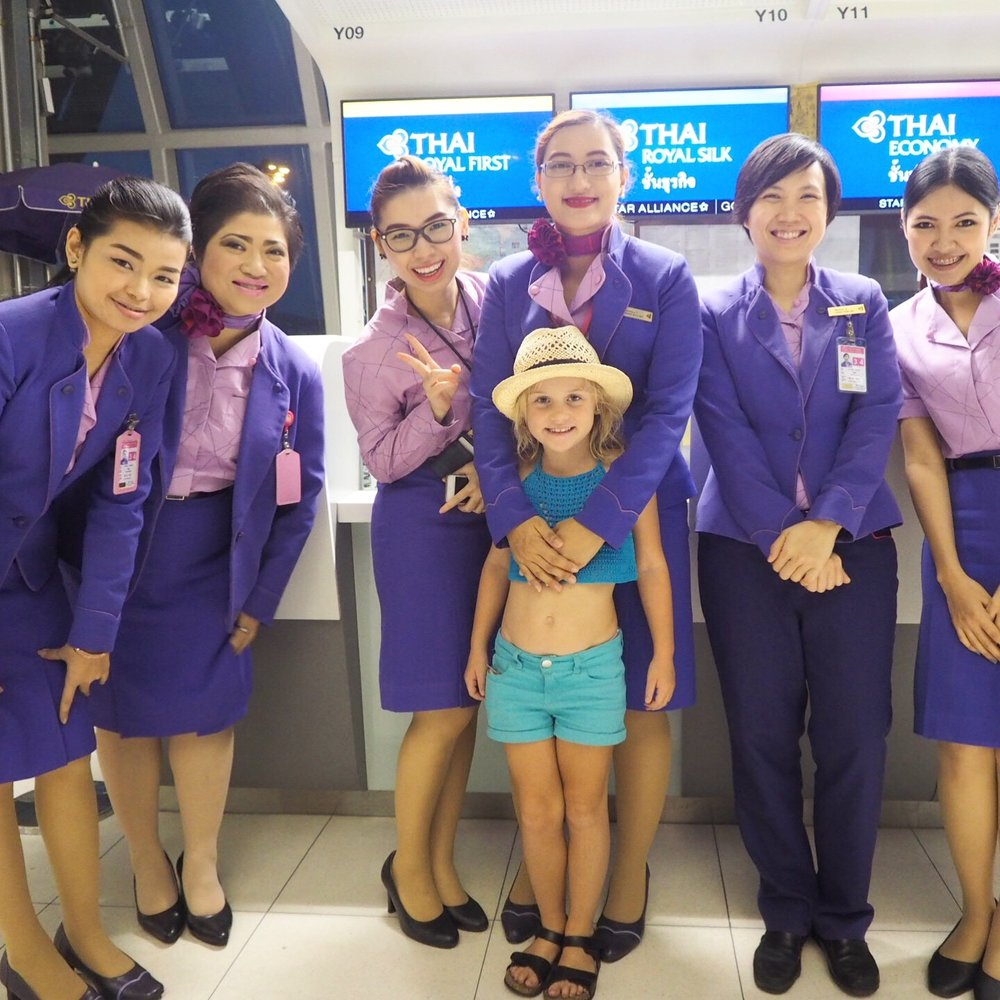 We love to fly with Thai Airways
