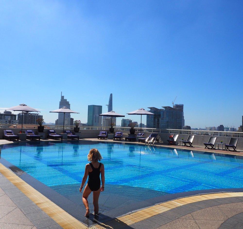 We loved the Sofitel Saigon Plaza's rooftop pool