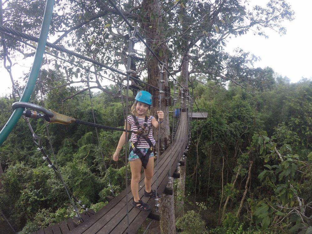 Ziplining at Angkor is so much fun
