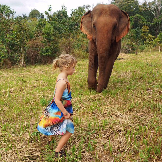 Emmie and Sambo at the Elephant Valley Project