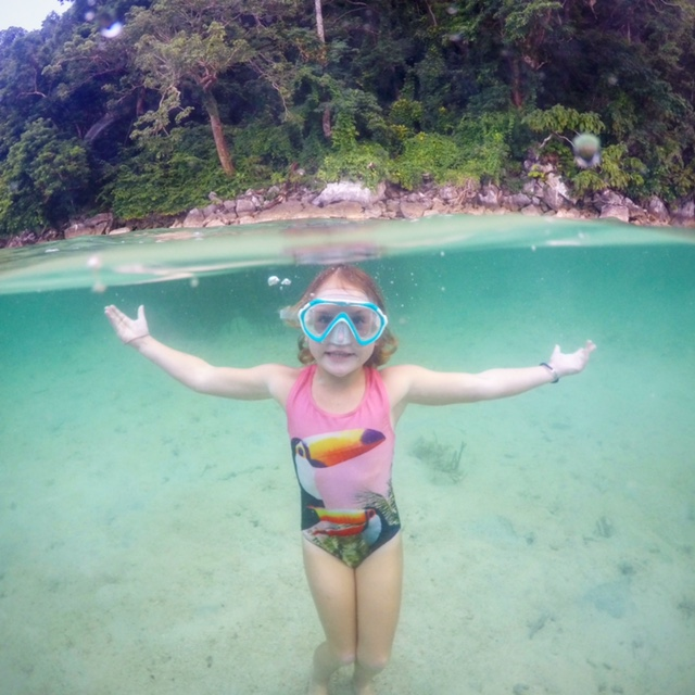 Loving swimming in Coron, the Philippines
