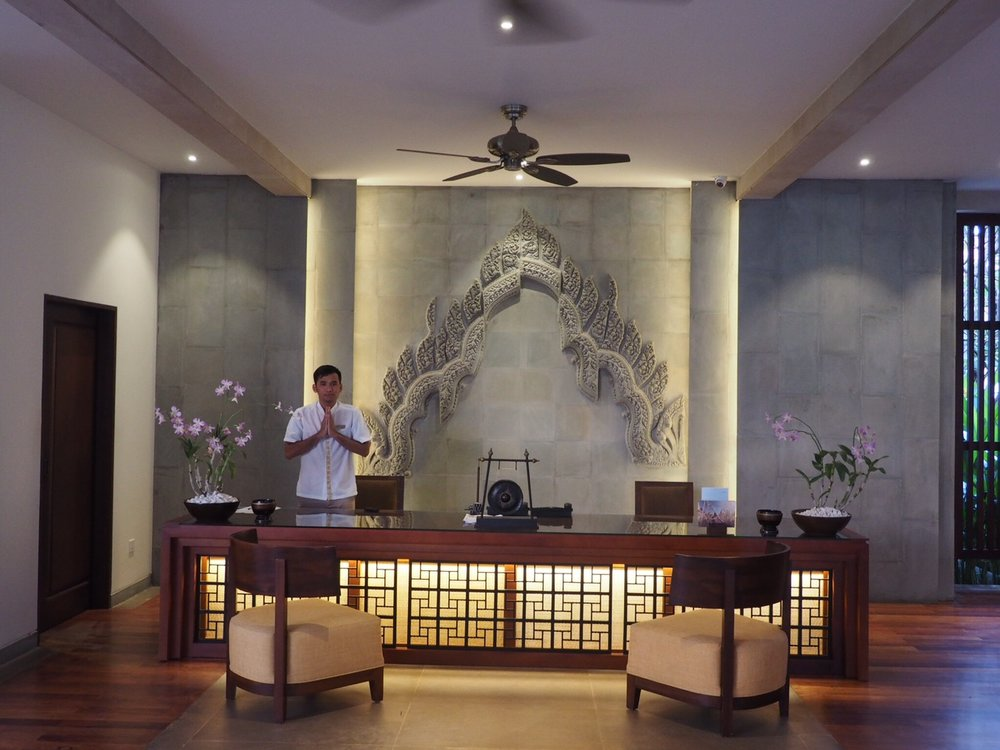 A beautiful welcome at the Anantara Angkor Resort, Siem Reap