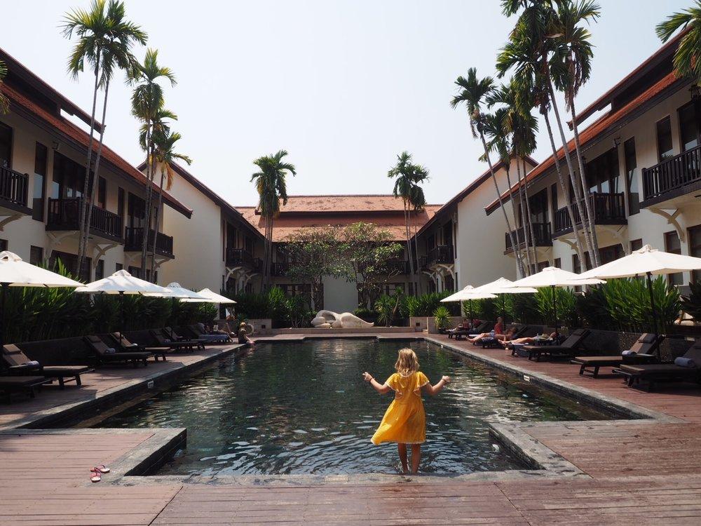 Swim time at the Anantara Angkor Sime Reap