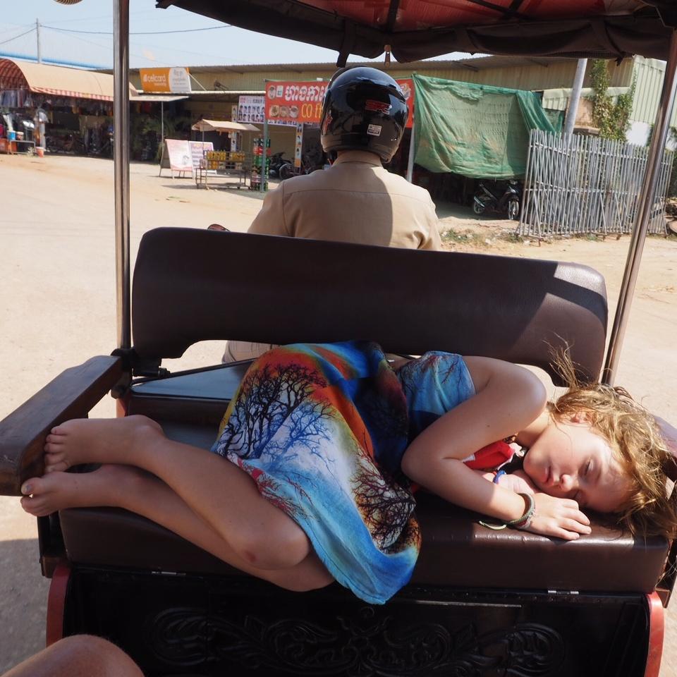 Emmie can sleep anywhere now