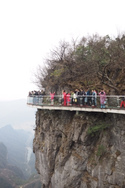 The glass walkway is 1.5kms high!
