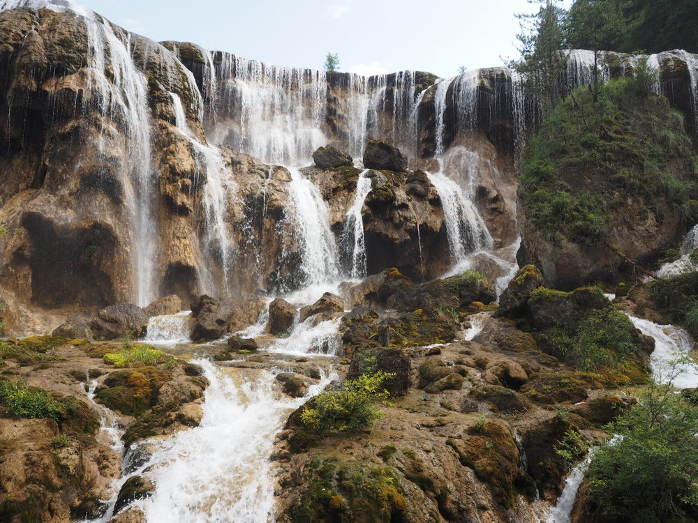 Incredible incredible waterfalls at Jiuzhaigou