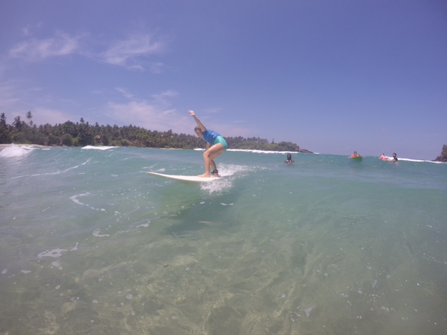 Emmie had such an awesome time learning to surf here