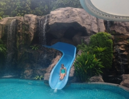 Three water slides - so much fun!