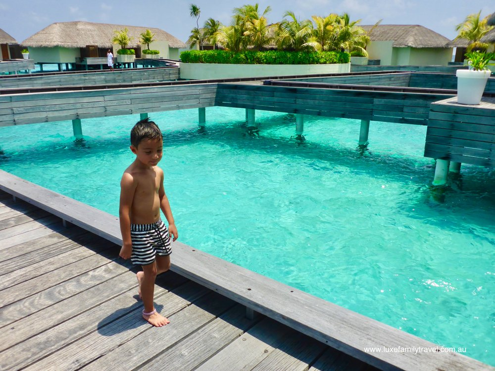 Family fun at the Maldives