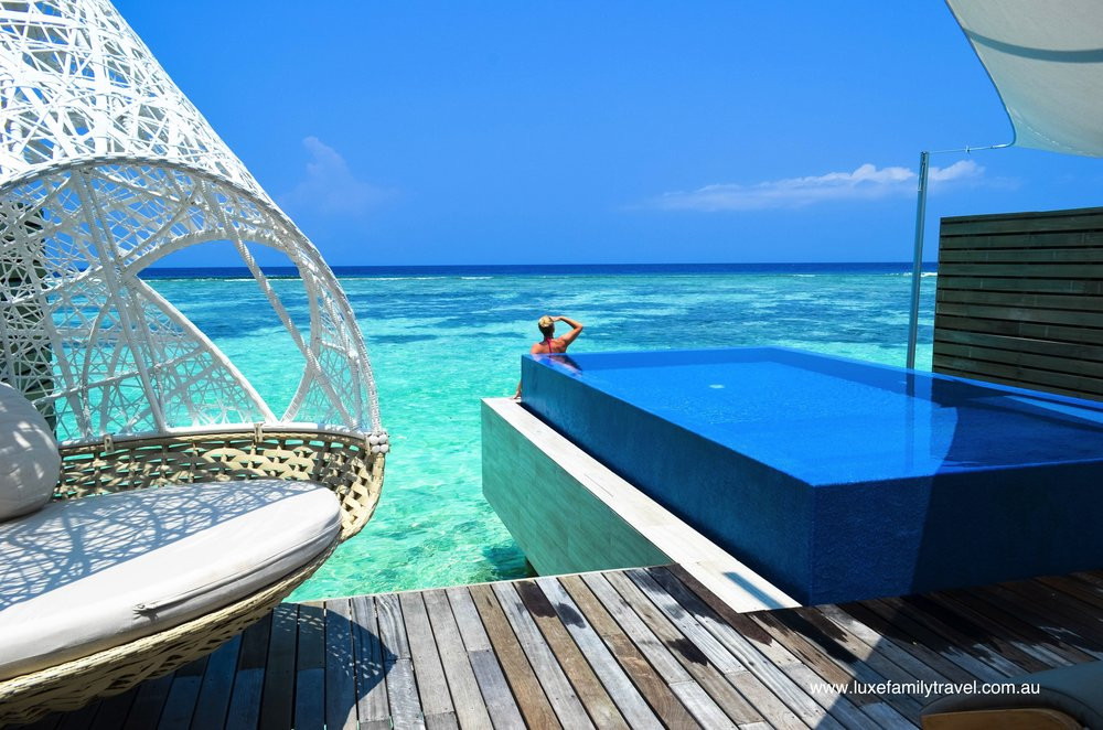 Incredible overwater bunglows and pools at luxe Maldives resorts
