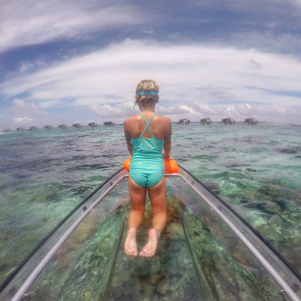 Glass canoe heaven in the Maldives