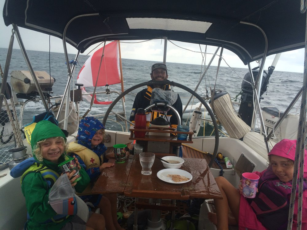 family fun sailing in the Bahamas