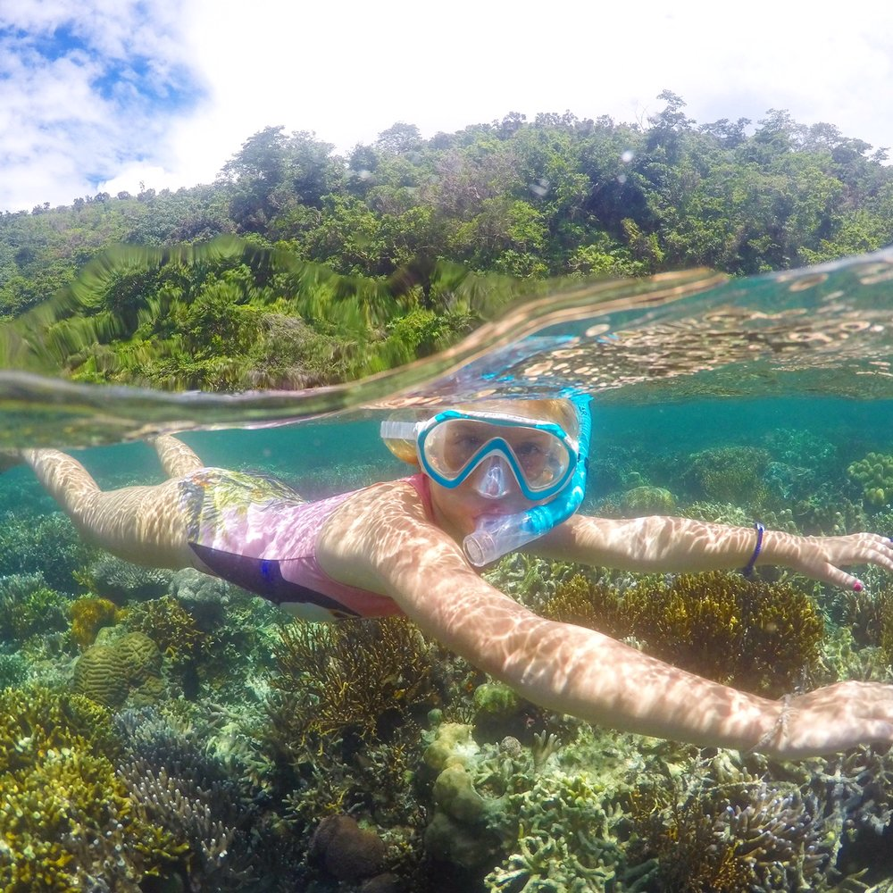 Snorkelling at Coron Island, the Philippines