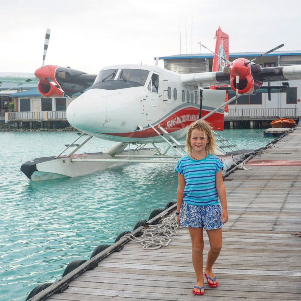 So so exciting - our first seaplane ride...and in the Maldives!