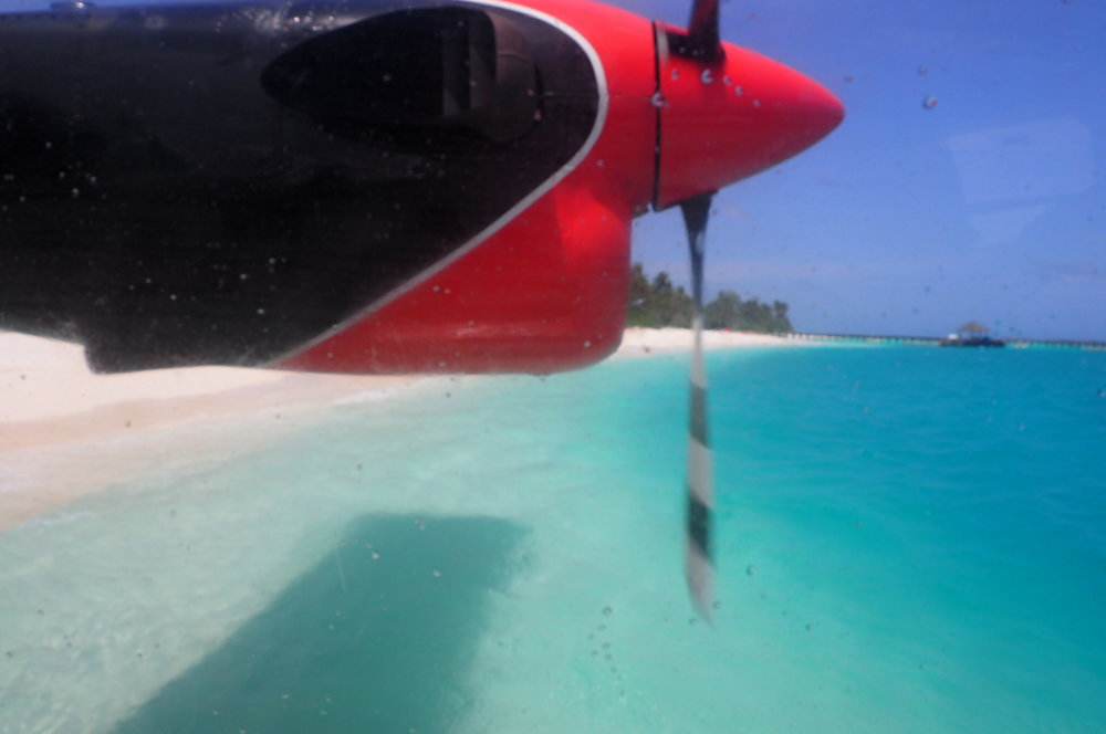 Ready set take off from Sun Siyam Iru Fushi
