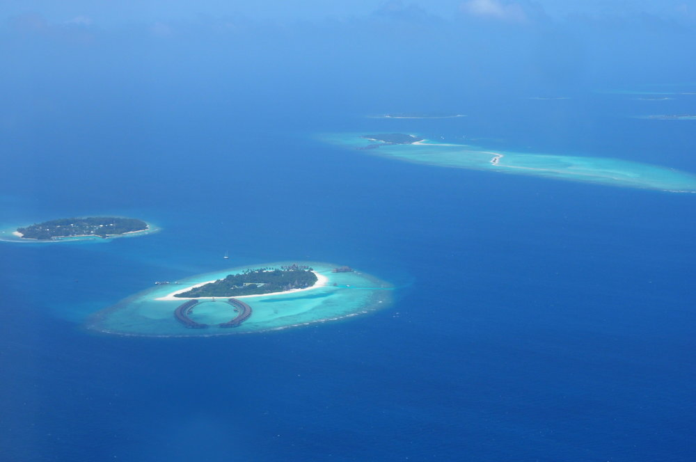 Amazing views from up above in the Maldives