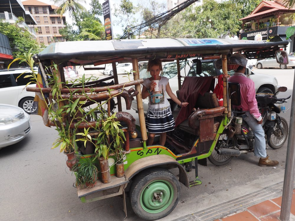 We love Cambodian tuk tuks!