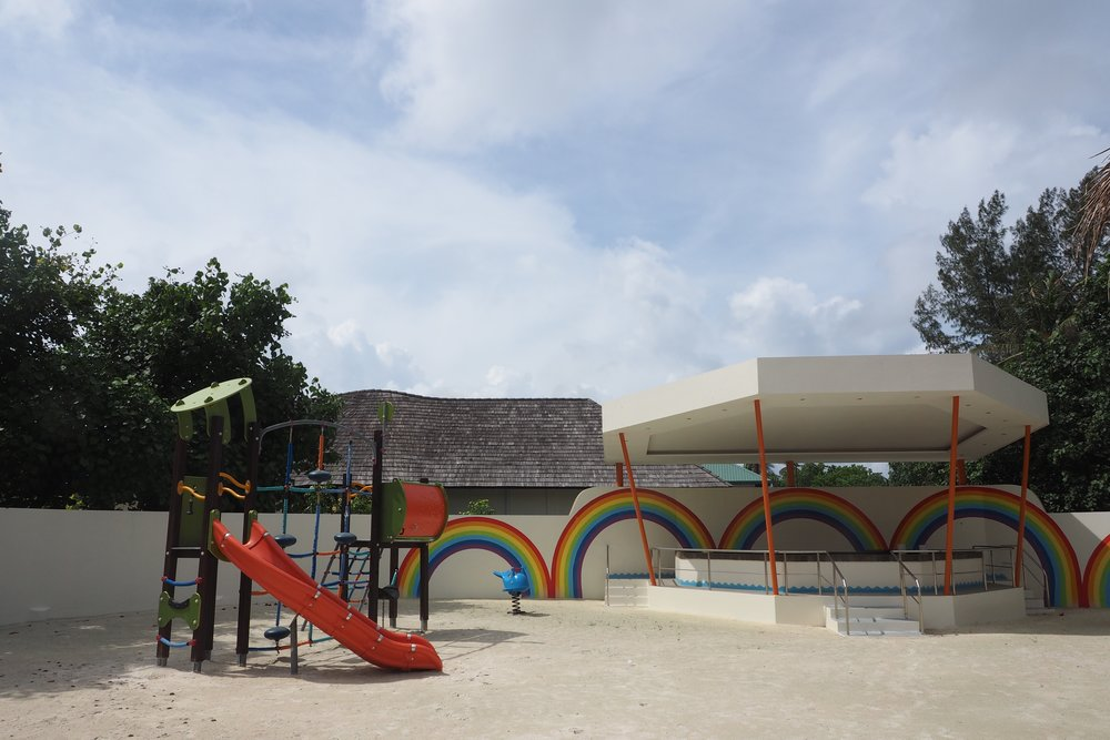 Awesome playground at the kids club