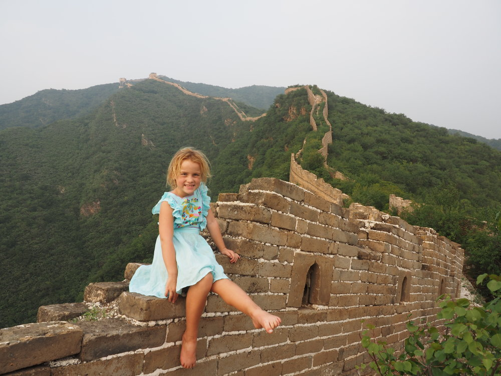 Camping on the Great Wall of China with kids is amazing.