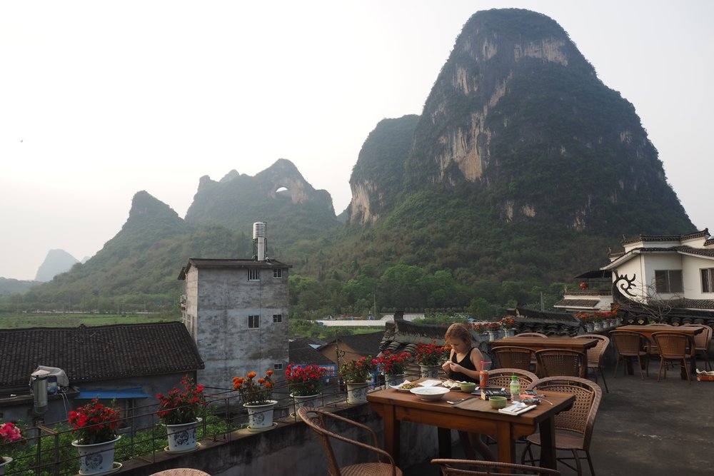 Luna restaurant at Yangshuo Mountain Inn