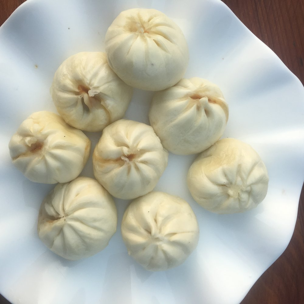 Delicious xioalongbao at the Yangshuo Valley Inn restaurant