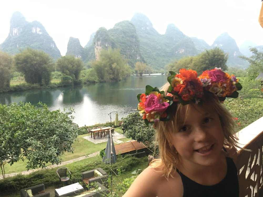 The gorgeous view from our room at the Yangshuo Mountain Retreat